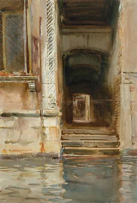 Drawing - Venetian Passageway by John Singer Sargent