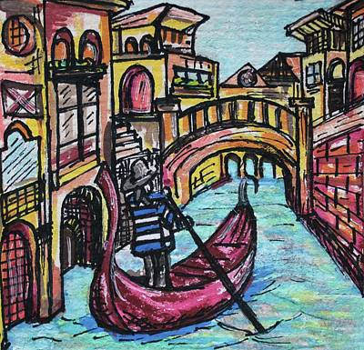 Watercolor Painting - Venice by Art By Naturallic