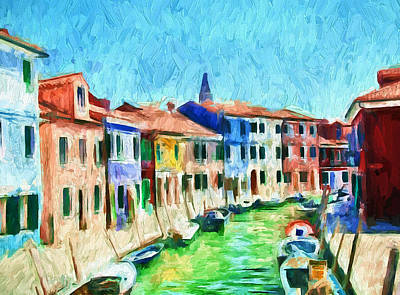 Digital Art - Venice Burano Beauty 1 by Yury Malkov