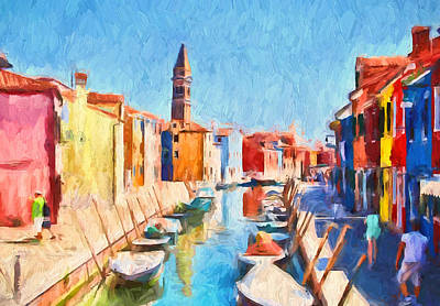 Digital Art - Venice Burano Beauty 2 by Yury Malkov