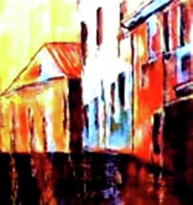 Painting - Venice Canal Cruise 1 by Miki Sion
