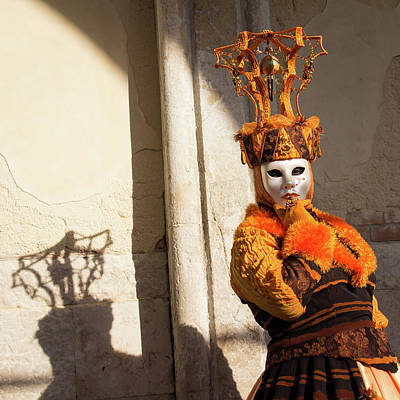 Venice Carnival - Masks And Costumes Art Print by Asgeir Pedersen