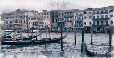 Mixed Media - Venice Channels by Yury Bashkin
