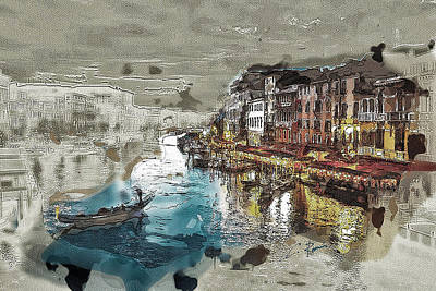 Digital Art - Venice by Charlie Roman