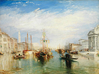 Italian Landscapes Painting - Venice, From The Porch Of Madonna Della Salute by Joseph Mallord William Turner