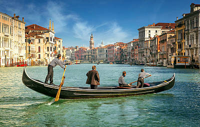 Traghetto Photograph - Venice Grand Canal by Nick M