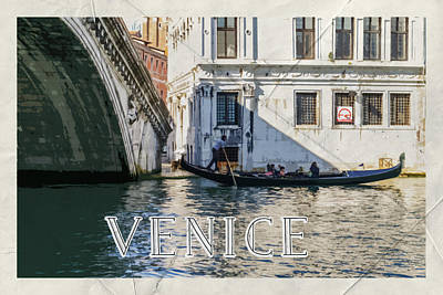 Photograph - Venice Italy Vintage Poster by Brandon Bourdages