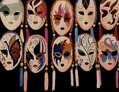 Painting - Venice Mask Shop Window by JoeRay Kelley