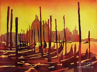 Fine Art Batik Painting - Venice Morning- Italy by Ryan Fox