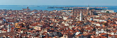Photograph - Venice Skyline Panorama Viewed From Above  by Songquan Deng