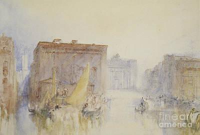 Joseph Mallord William Turner Painting - Venice  The Accademia, 1840 by Joseph Mallord William Turner