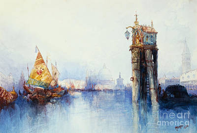 Navy Painting - Venice by Thomas Moran