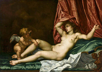 Painting - Venus And Cupid by Carlo Maratta