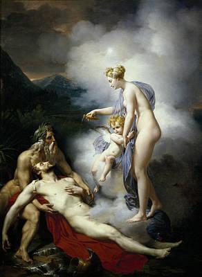 Aeneas Painting - Venus Healing Aeneas by Merry-Joseph Blondel