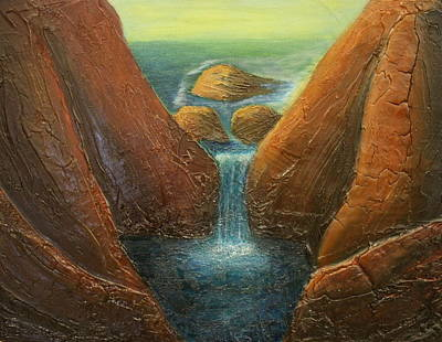 Painting - Venus On The Rocks by Kristen R Kennedy