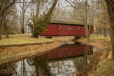 Photograph - Vermont/kokomo Covered Bridge by Jack R Perry