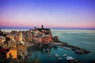 Photograph - Vernazza Evening by Andrew Soundarajan