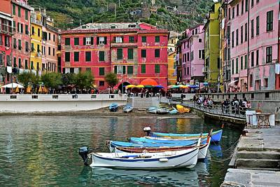 Photograph - Vernazza Harbor by Frozen in Time Fine Art Photography