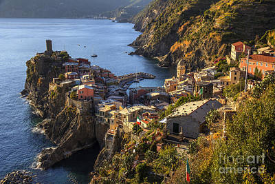Print featuring the photograph Vernazza by Spencer Baugh
