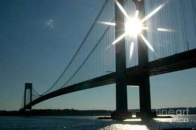 Verrazano Bridge Starburst Art Print
