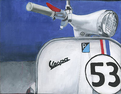 Scooter Painting - Vespa 53 by Debbie Brown