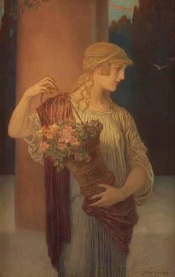 Vestal  Art Print by Julius Kronberg