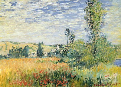 Farmland Painting - Vetheuil by Claude Monet