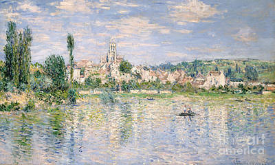 Boats In Reflecting Water Painting - Vetheuil In Summer, 1880 by Claude Monet