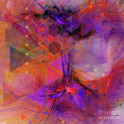 Digital Art - Vibrant Echoes - Square Version by John Beck