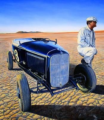 Vintage Oil Painting - Vic Edelbrock Sr. by Ruben Duran