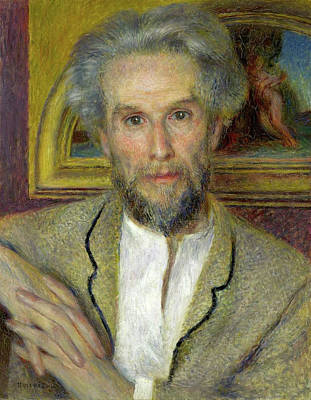 Aged Painting - Victor Choquet by Pierre-Auguste Renoir