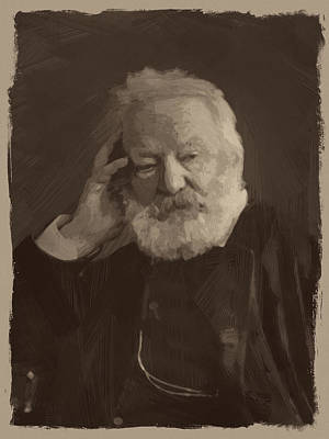 Victor Painting - Victor Hugo by Afterdarkness