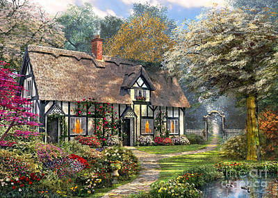 Digital Art - Victorian Garden Home by Dominic Davison