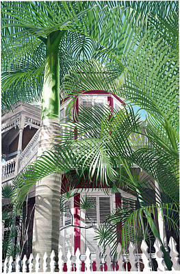 Creole Cottage Wall Art - Painting - Victorian Palms by John Canning
