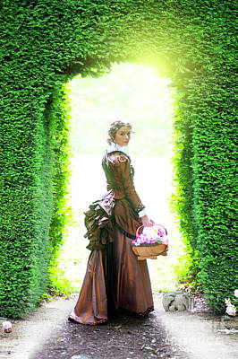 Photograph - Victorian Woman In The Garden by Lee Avison