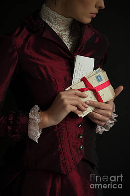 Photograph - Victorian Woman With Love Letters by Lee Avison