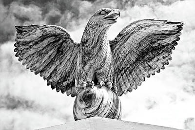 Print featuring the photograph Victorious Eagle Of Marble by Yurix Sardinelly