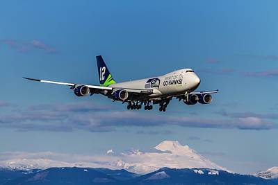 Super Bowl Xlviii Photograph - Seattle Seahawks 747 Victorious Return by Conrad Monroe