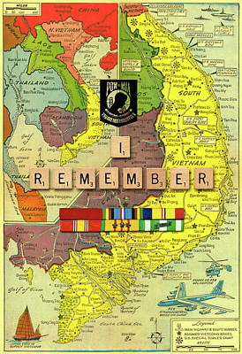 Digital Art - Vietnam War Map 2 by Gary Grayson