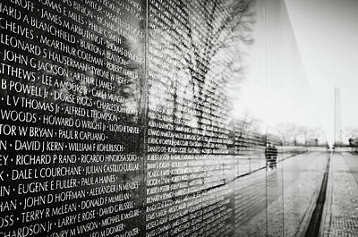 Photograph - Vietnam War Memorial In Washington Dc by Brandon Bourdages