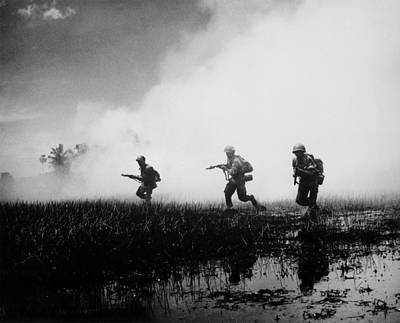 Cold War Era Photograph - Vietnam War. South Vietnamese Troops by Everett