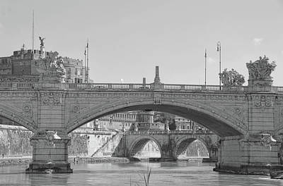 Photograph - View Along The Lungotevere Rome by JAMART Photography