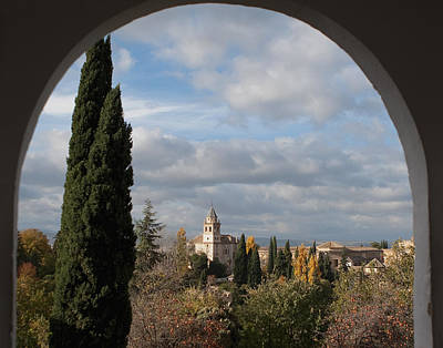 Photograph - View From An Archway by Lorraine Devon Wilke