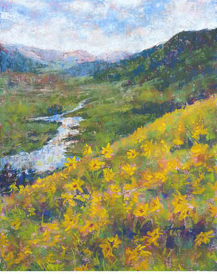 Painting - View From Baxters Gulch by Becky Chappell