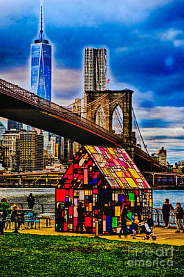 Photograph - View From Brooklyn Bridge Park by Mark Gilman