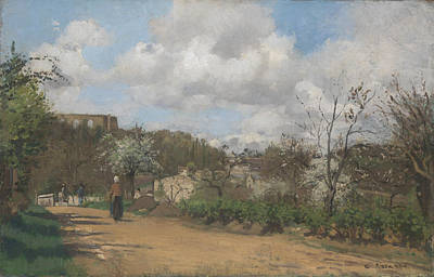 View From Louveciennes Print by Camille Pissarro