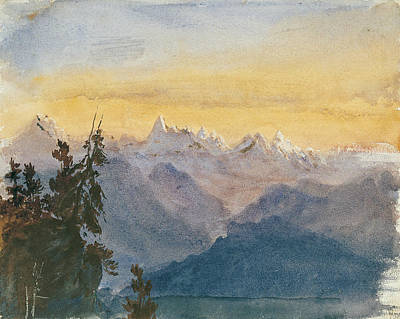 Drawing - View From Mount Pilatus by John Singer Sargent