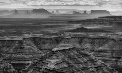Photograph - View From Muley Point 1 - Utah - Bw by Nikolyn McDonald