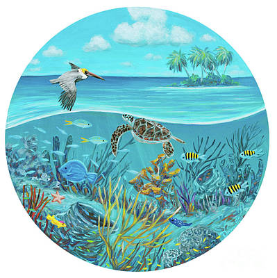 Fish Underwater Painting - View From My Galley by Danielle Perry