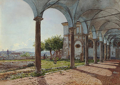 Painting - View From Sant'onofrio On Rome  by Rudolf von Alt